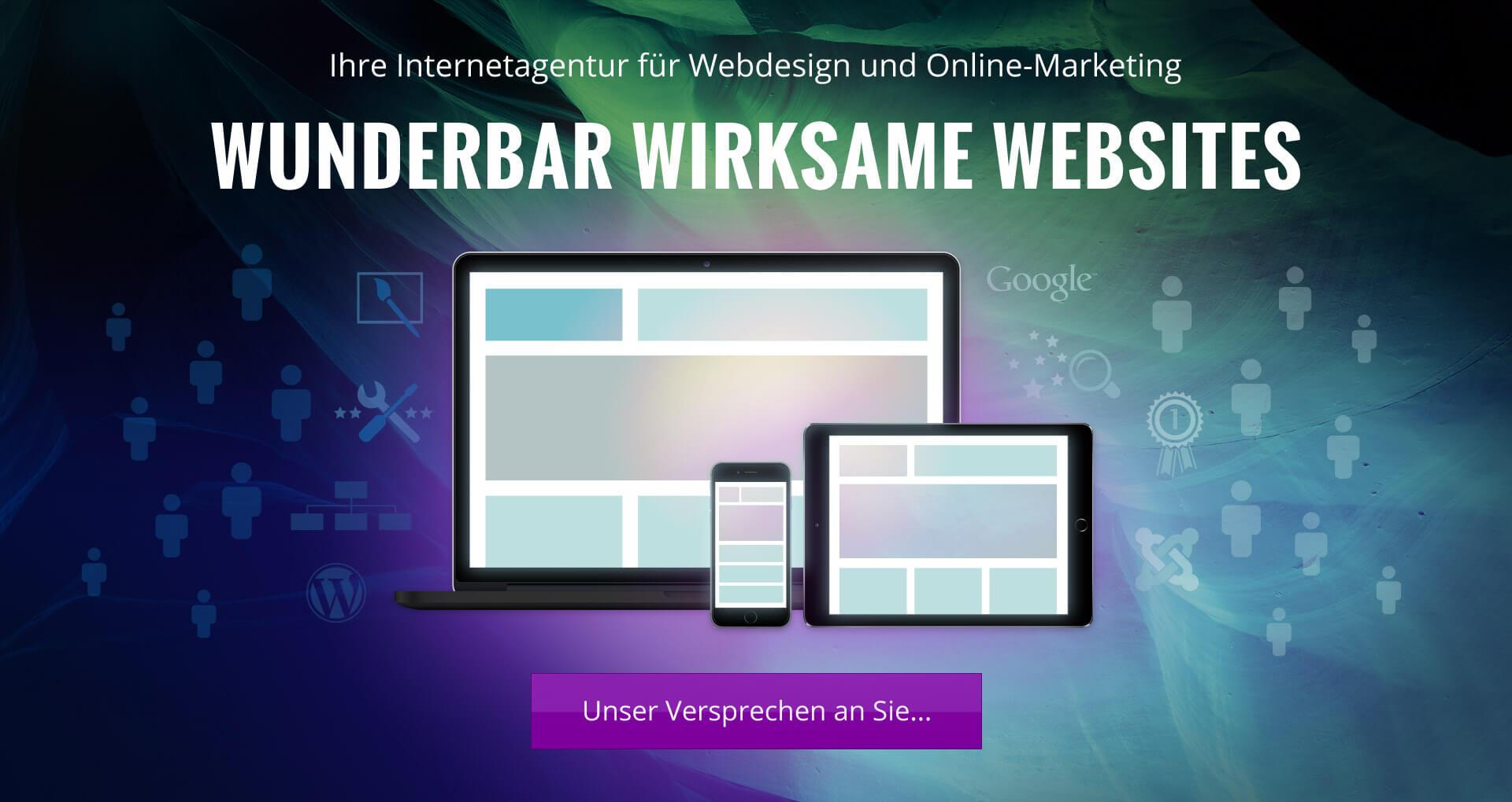 Responsive Webdesign - Header Wunderbar-wirksame-Websites mobile