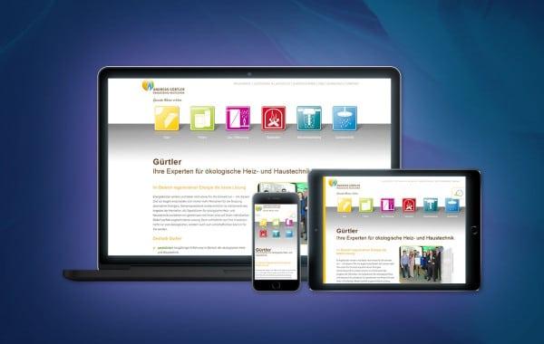 Andreas Gürtler - Website-Relaunch, Flexibles Responsive Design für alle Endgeräte