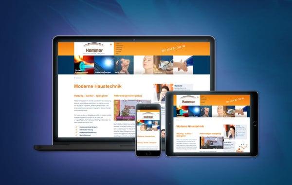 Hammer Spenglerei, Sanitär- und Heizungstechnik GmbH - Website-Relaunch, Suchmaschinen-Optimierung