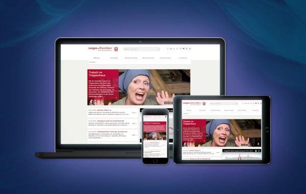 Stadt Langen - Website-Relaunch, Konzeption und Design