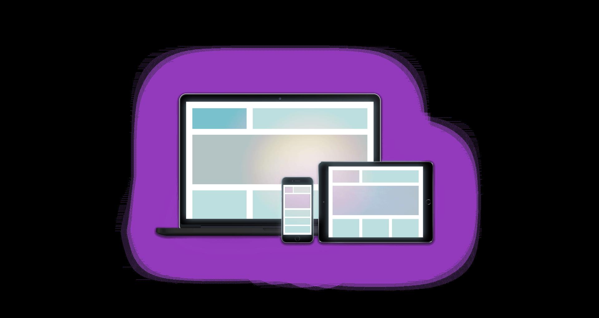 Responsive Webdesign - Header Wunderbar-wirksame-Websites Monitor