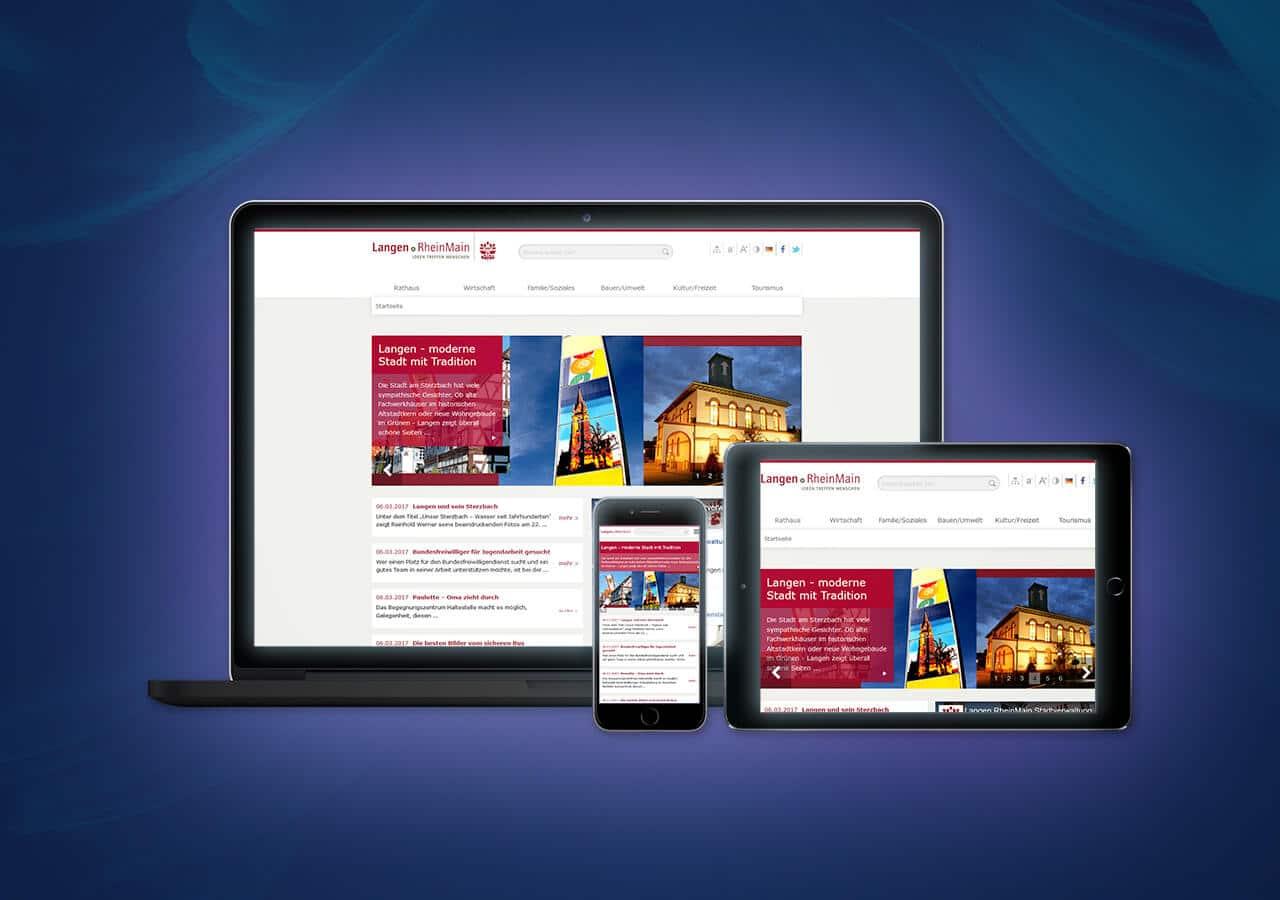 Stadt Langen - Website Relaunch, Konzeption und Design
