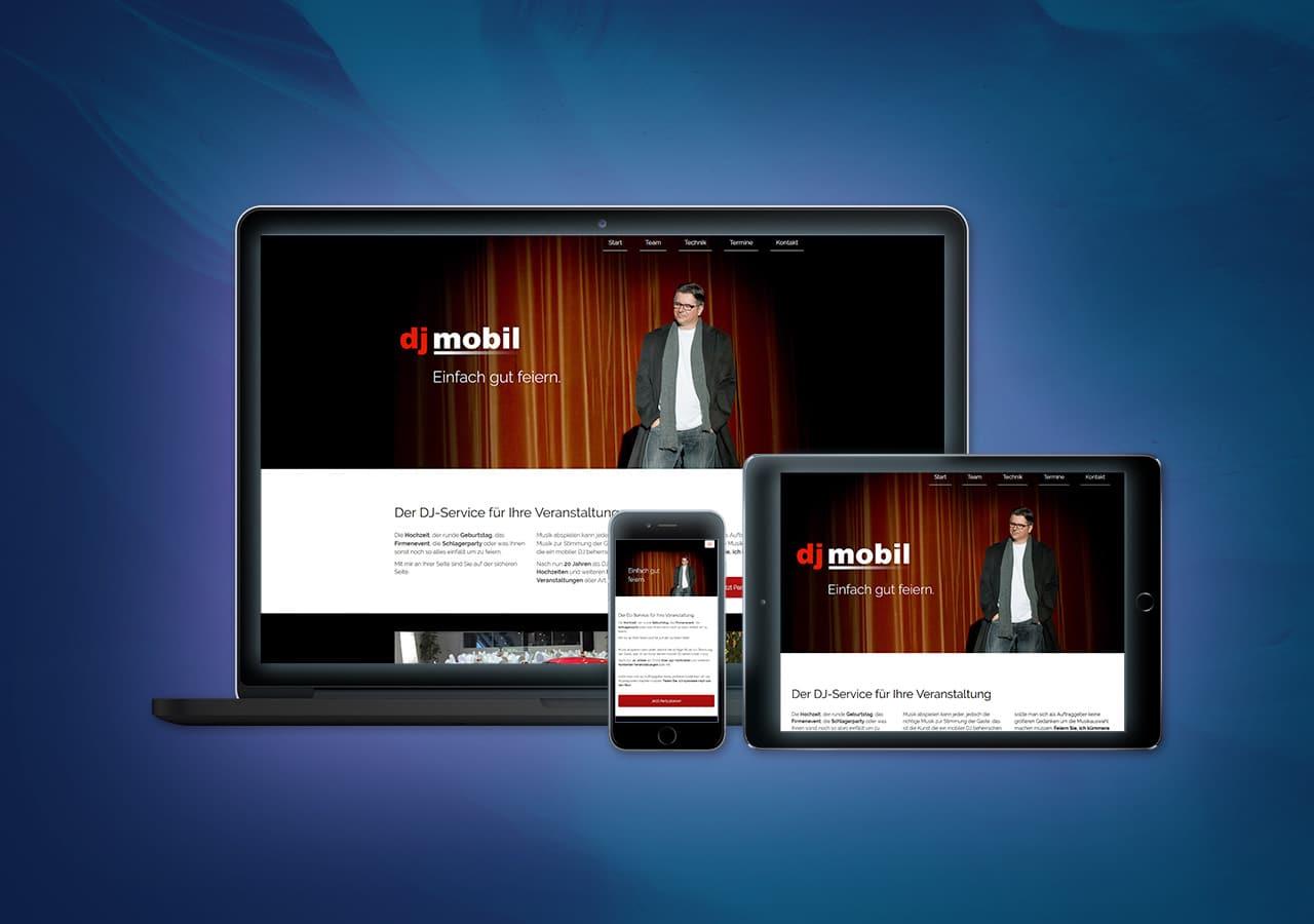 djmobil - Konzeption, Website Relaunch, Responsive Design für alle Endgeräte