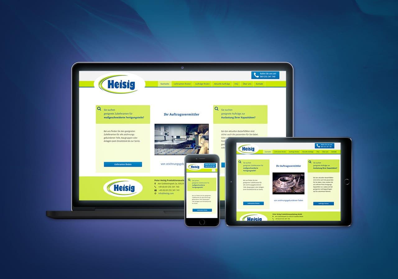 Peter Heisig GmbH - Website Relaunch, Flexibles Responsive Design für alle Endgeräte