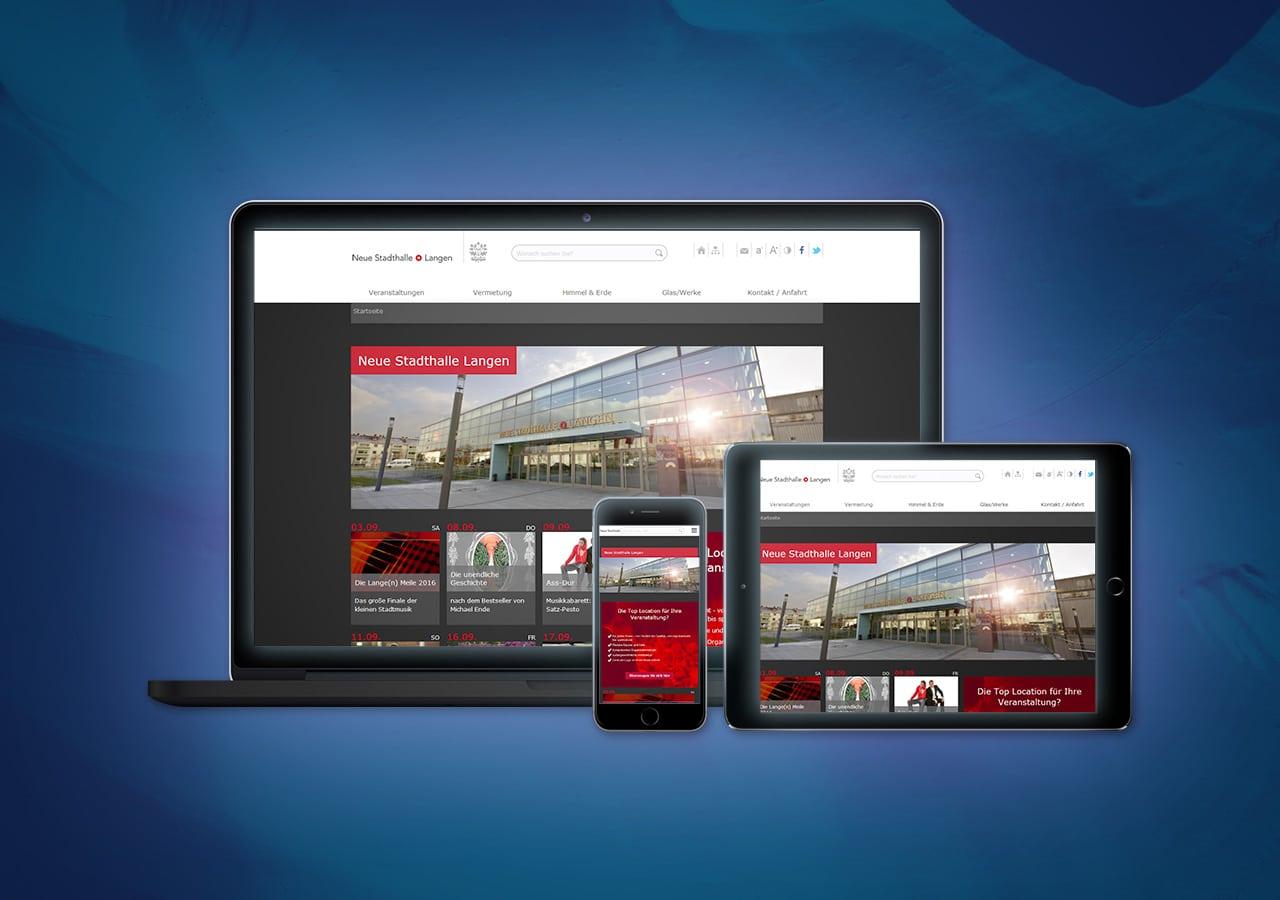 Neue Stadthalle Langen - Konzeption und Design, Website Relaunch