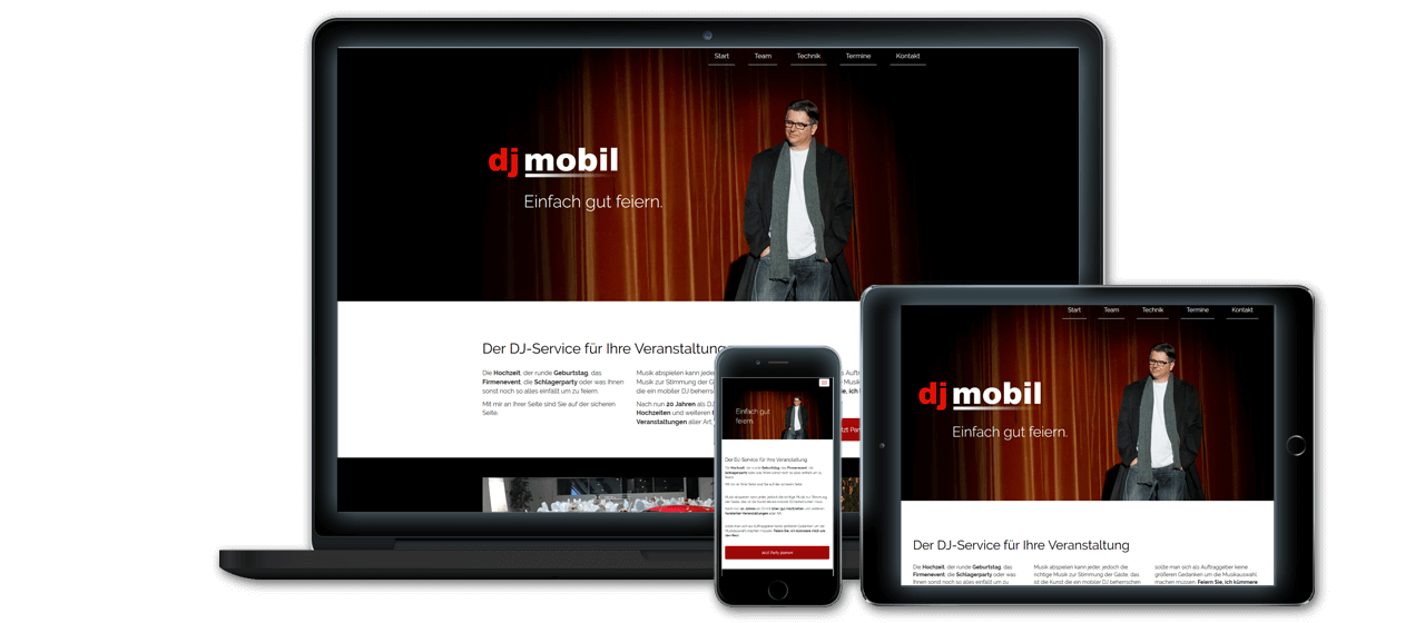 djmobil - Konzeption, Website Relaunch, Responsive Design für alle Endgeräte