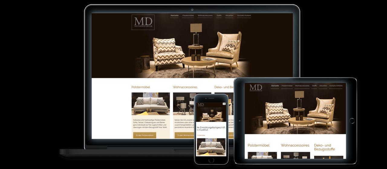 Muthesius Decor - Konzeption und Design, Website Relaunch