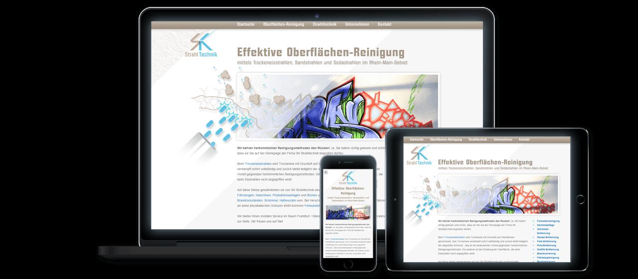 SK Strahltechnik - Corporate Design, Website Erstellung, Suchmaschinen-Optimierung