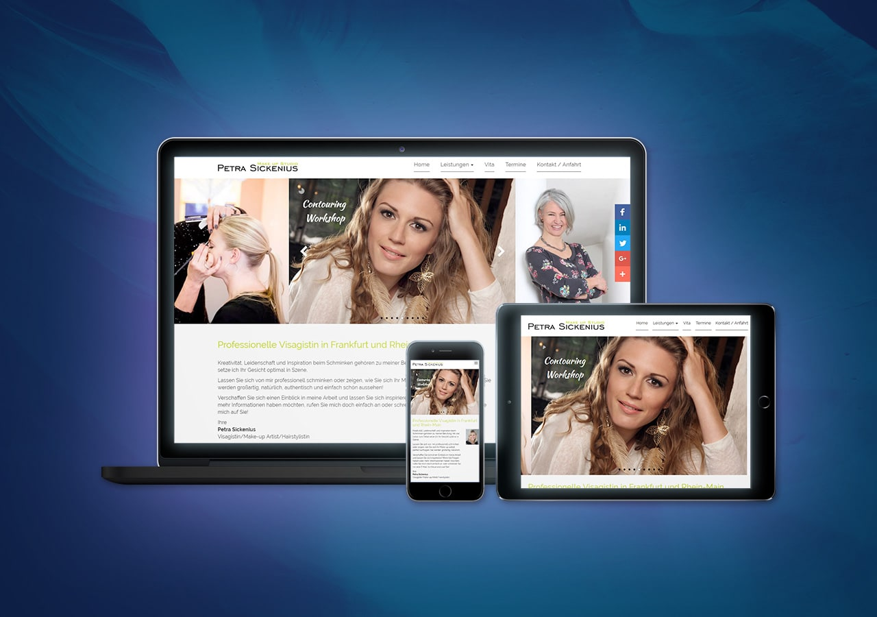 Petra Sickenius - Responsive Design, Website Relaunch