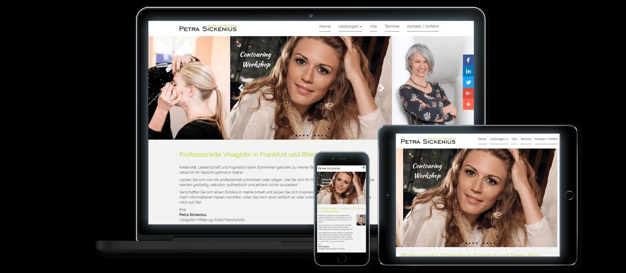 Petra Sickenius - Responsive Design, Website Relaunch