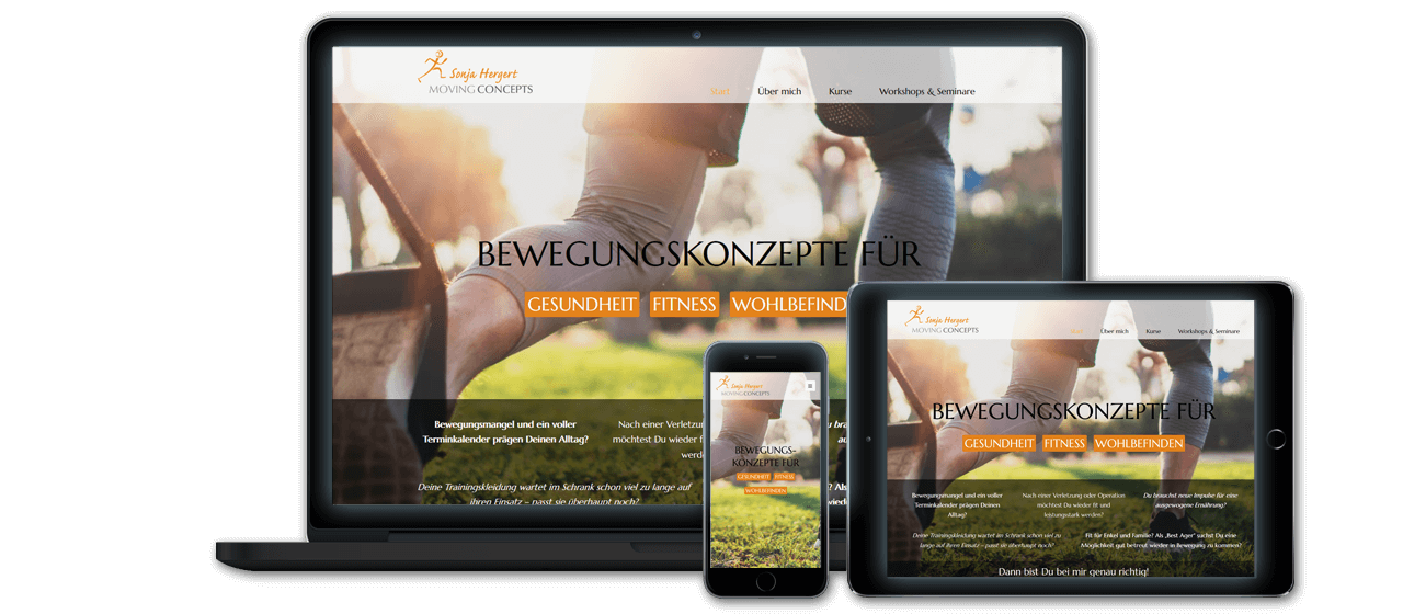 Movingconcepts - Website Launch, Konzeption und Design