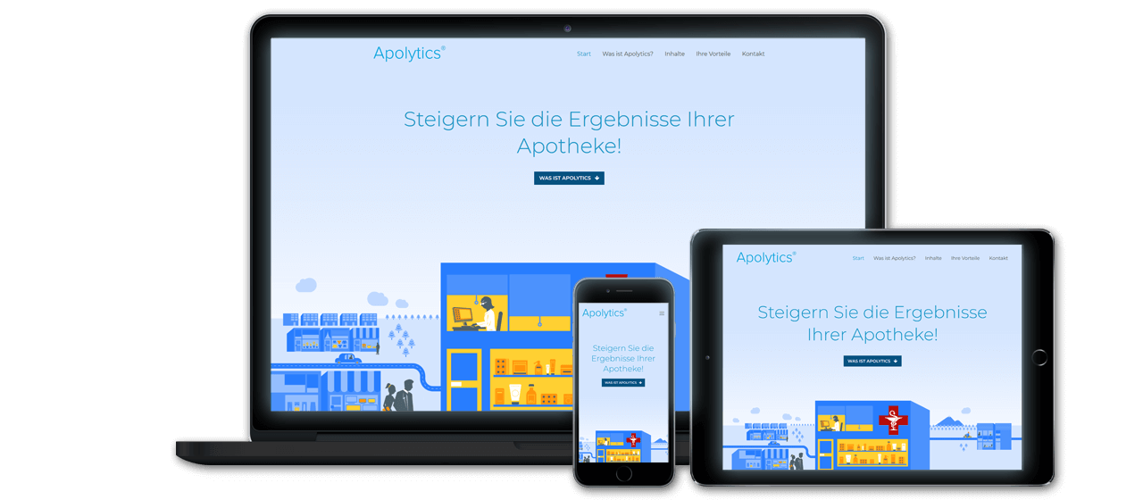 Apolytics - Website Launch, Konzeption und Design