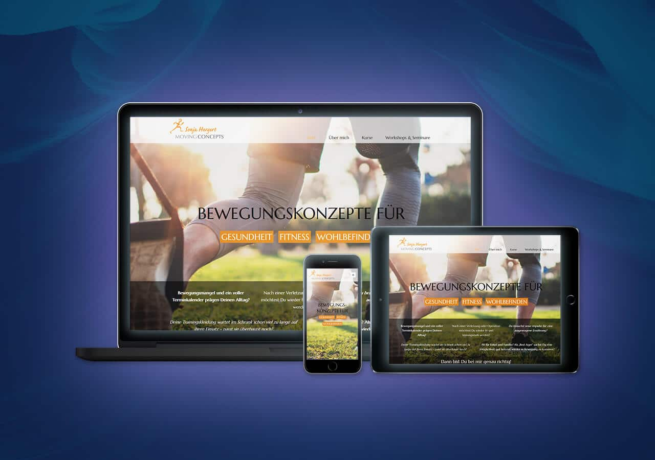 Movingconcepts - Website Launch, Konzeption und Design