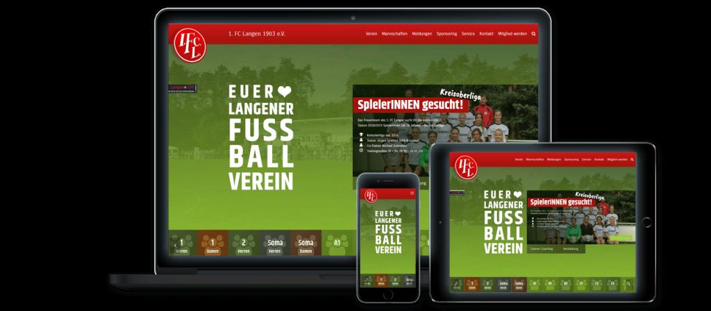 1. FC Langen - Website Relaunch, Konzeption und Design