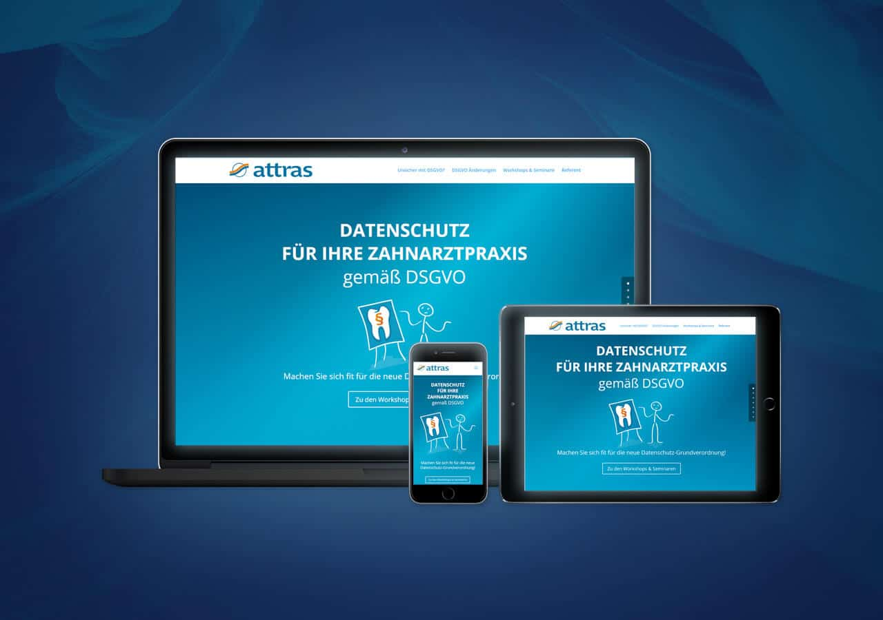 Responsive Design für Unternehmensberater attras, als mobile Website optimal nutzbar
