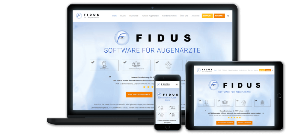 FIDUS - Website Relaunch, Konzeption und Design