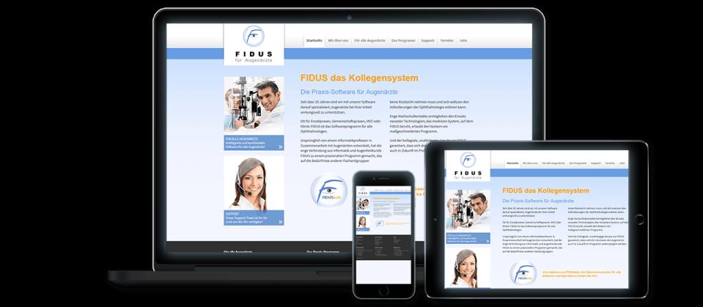 FIDUS - Website Relaunch, Konzeption und Design Alt