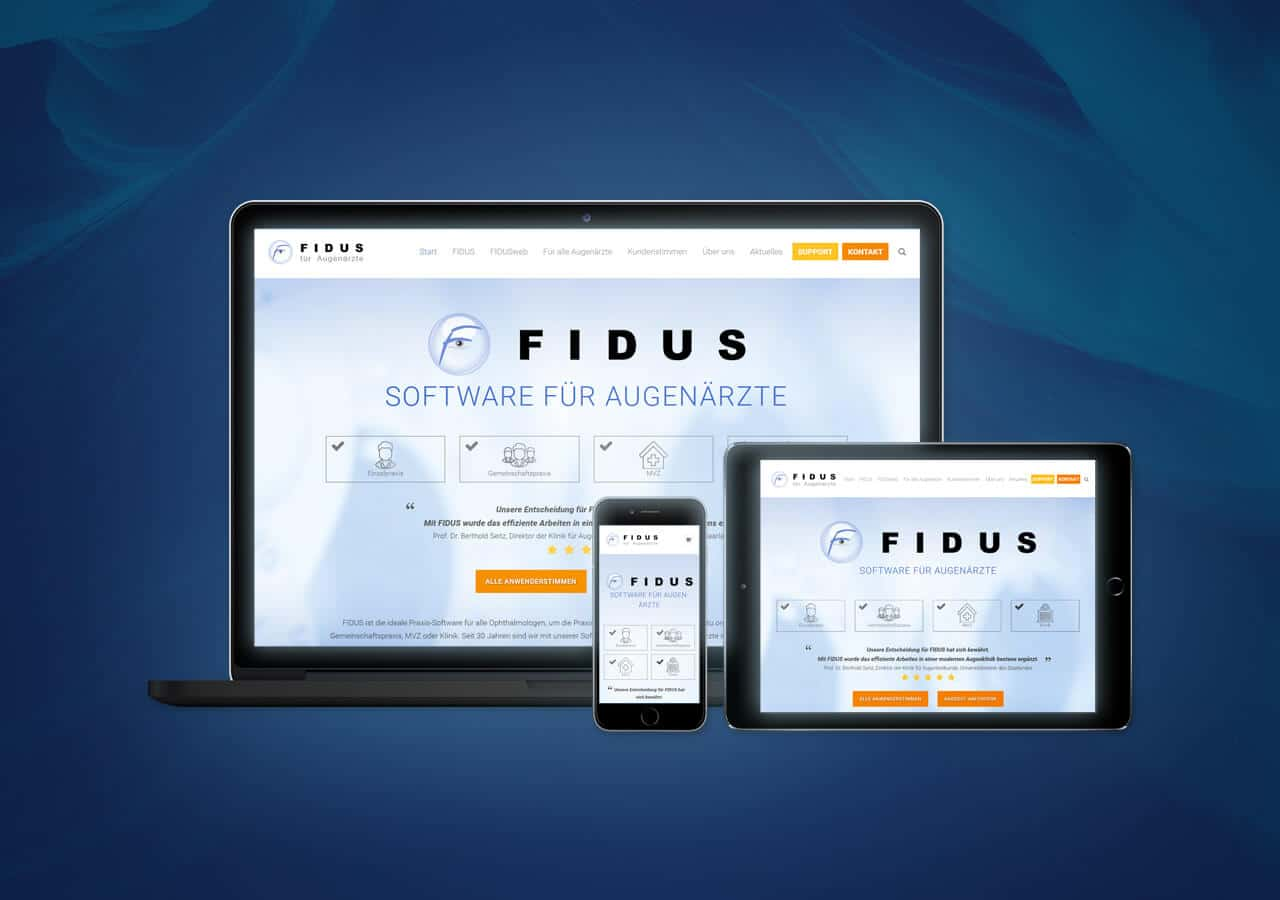 FIDUS - Website Relaunch, Konzeption und Design