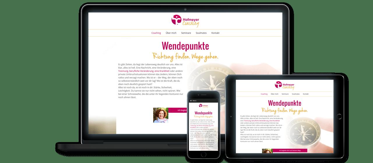hofmeyer-coaching - Website Launch, Konzeption und Design