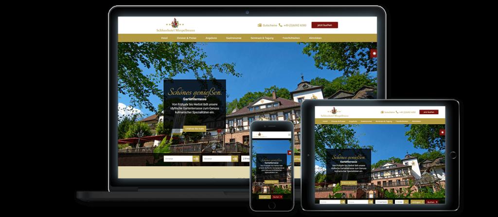 Schlosshotel Mespelbrunn - Website Launch, Konzeption und Design