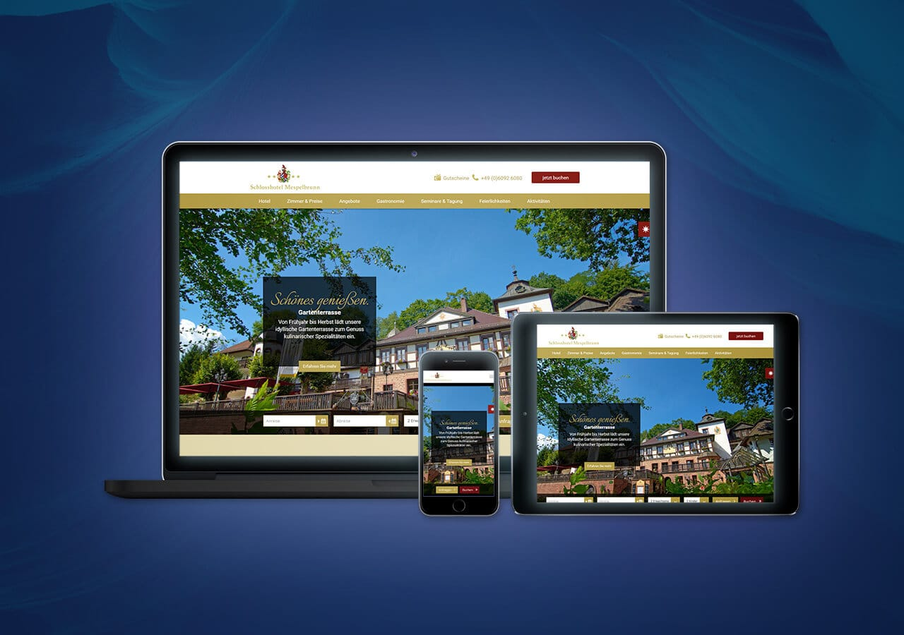 Schlosshotel Mespelbrunn - Website Launch, Konzeption und Design