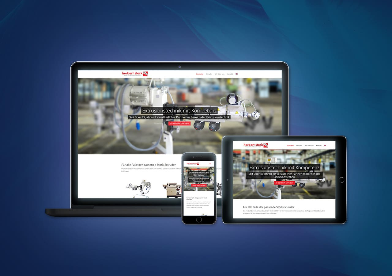 Responsive Design für Herbert Stork Maschinenbau, als mobile Website optimal nutzbar