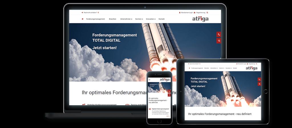 atriga - Website Relaunch, Konzeption und Design