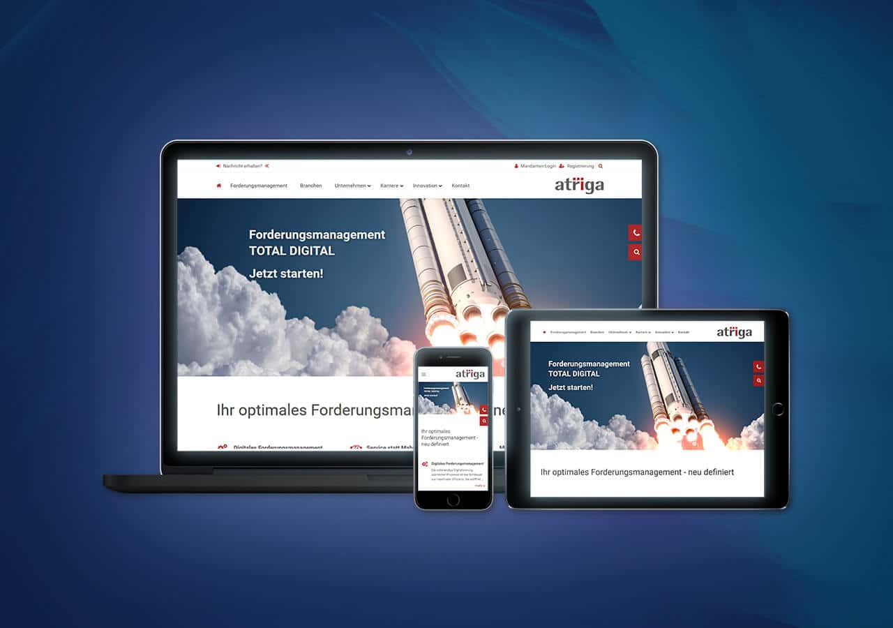 atriga - Website Relaunch, Konzeption und Design