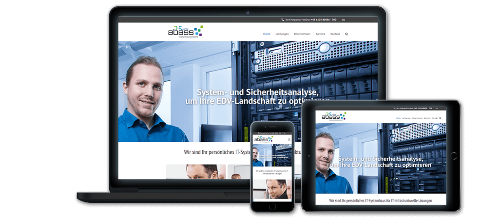 abass - Website Relaunch, Konzeption und Design